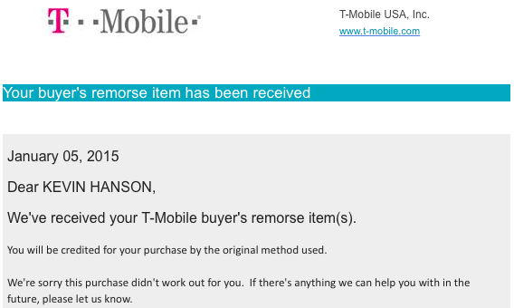 So… This is How You Return a Device with T-Mobile  – Not